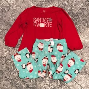 Santa Christmas Fleece Pajamas